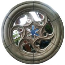 Round Gothic window 60 cm